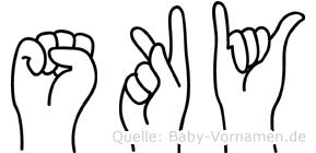 Sky in Fingersprache für Gehörlose