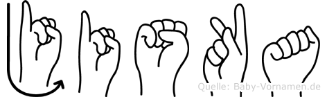 Jiska in Fingersprache für Gehörlose