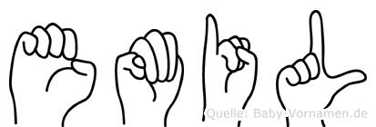 Emil in Fingersprache für Gehörlose