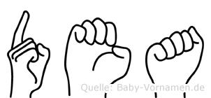 Dea in Fingersprache für Gehörlose