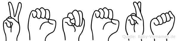 Venera im Fingeralphabet der Deutschen Gebärdensprache