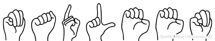 Madleen im Fingeralphabet der Deutschen Gebärdensprache