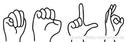 Melf im Fingeralphabet der Deutschen Gebärdensprache