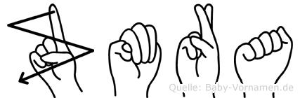 Zümra im Fingeralphabet der Deutschen Gebärdensprache