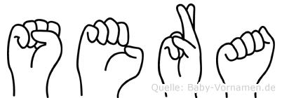 Sera im Fingeralphabet der Deutschen Gebärdensprache
