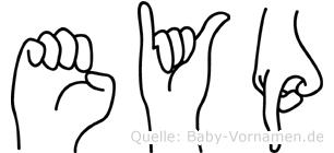 Eyüp in Fingersprache für Gehörlose