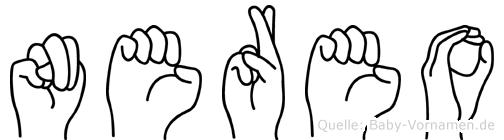Nereo im Fingeralphabet der Deutschen Gebärdensprache