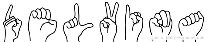 Delvina in Fingersprache für Gehörlose