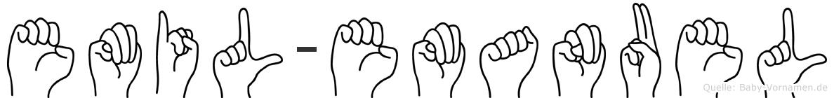 Emil-Emanuel im Fingeralphabet der Deutschen Gebärdensprache