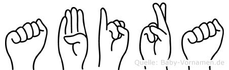 Abira in Fingersprache für Gehörlose