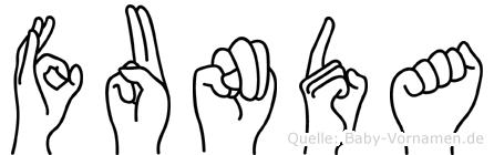 Funda in Fingersprache für Gehörlose