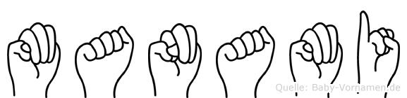 Manami in Fingersprache für Gehörlose