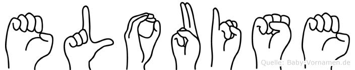 Elouise im Fingeralphabet der Deutschen Gebärdensprache