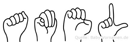 Amel im Fingeralphabet der Deutschen Gebärdensprache