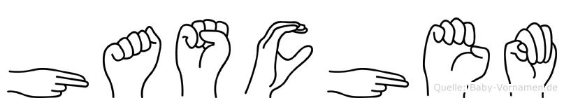 Haschem im Fingeralphabet der Deutschen Gebärdensprache