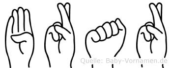 Brar in Fingersprache für Gehörlose
