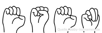 Esen im Fingeralphabet der Deutschen Gebärdensprache