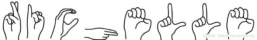 Richelle in Fingersprache für Gehörlose