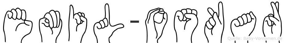 Emil-Oskar im Fingeralphabet der Deutschen Gebärdensprache