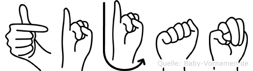 Tijan im Fingeralphabet der Deutschen Gebärdensprache