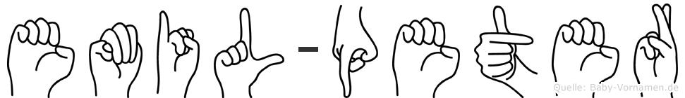 Emil-Peter im Fingeralphabet der Deutschen Gebärdensprache