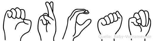 Ercan im Fingeralphabet der Deutschen Gebärdensprache
