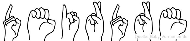 Deirdre in Fingersprache für Gehörlose