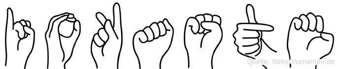 Iokaste in Fingersprache für Gehörlose