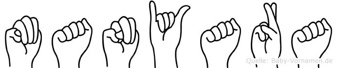 Manyara in Fingersprache für Gehörlose