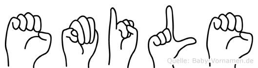 Emile im Fingeralphabet der Deutschen Gebärdensprache