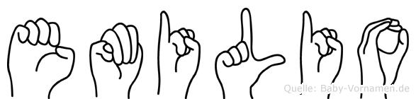 Emilio in Fingersprache für Gehörlose