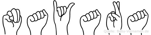 Nayara im Fingeralphabet der Deutschen Gebärdensprache