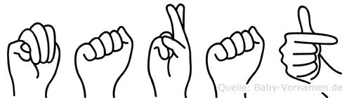 Marat in Fingersprache für Gehörlose