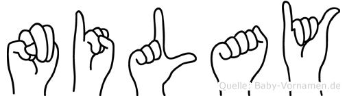Nilay im Fingeralphabet der Deutschen Gebärdensprache