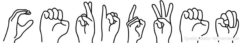 Ceridwen in Fingersprache für Gehörlose