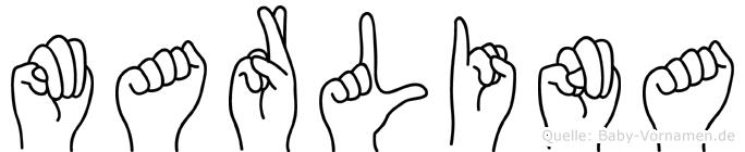 Marlina im Fingeralphabet der Deutschen Gebärdensprache
