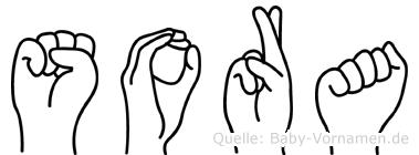 Sora in Fingersprache für Gehörlose