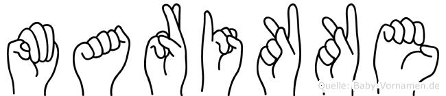 Marikke in Fingersprache für Gehörlose