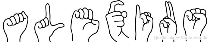 Alexius in Fingersprache für Gehörlose