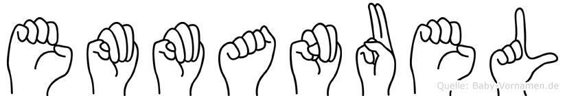 Emmanuel im Fingeralphabet der Deutschen Gebärdensprache