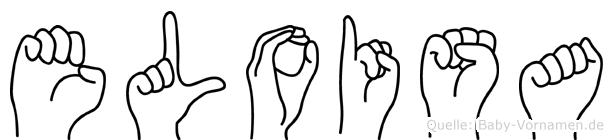 Eloisa im Fingeralphabet der Deutschen Gebärdensprache