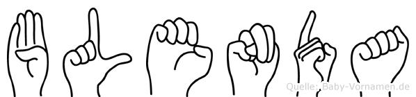Blenda im Fingeralphabet der Deutschen Gebärdensprache