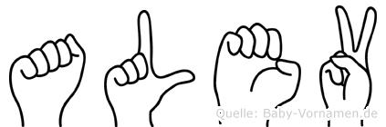 Alev in Fingersprache für Gehörlose