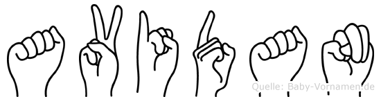 Avidan im Fingeralphabet der Deutschen Gebärdensprache