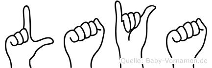 Laya im Fingeralphabet der Deutschen Gebärdensprache