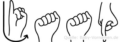 Jaap in Fingersprache für Gehörlose