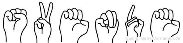 Svende in Fingersprache für Gehörlose