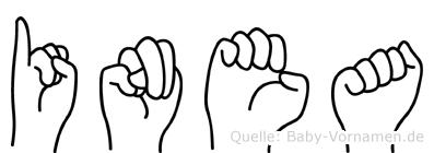 Inea in Fingersprache für Gehörlose