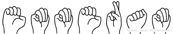 Emmeram im Fingeralphabet der Deutschen Gebärdensprache