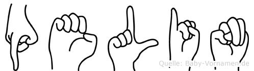 Pelin im Fingeralphabet der Deutschen Gebärdensprache